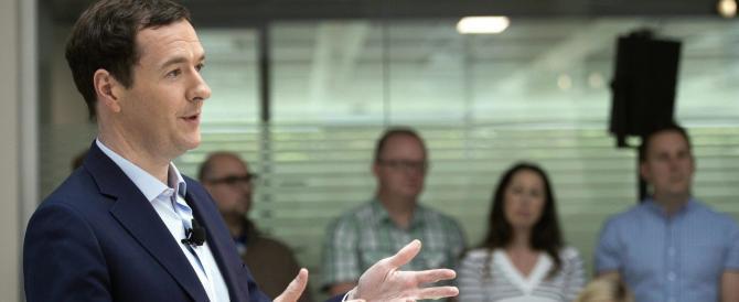 Brexit, Osborne: «Non voglio che la Gran Bretagna volti le spalle all'Ue»