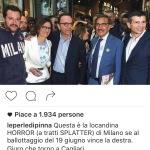 L'ironia di Andrea Pinna sul centrodestra milanese: non gli ha portato fortuna... (Foto Instagram)