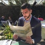 Al ristorante, a Londra. Graziano ha giocato prevalentemente all'estero.(Foto Instagram)