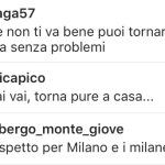 """""""Rispetto per Milano e i milanesi"""", chiede uno. (Foto Instagram)"""
