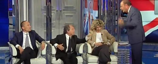 """Lite furibonda tra Brunetta e Vespa a """"Porta a Porta"""" sulla Brexit (Video)"""