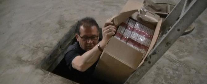 Scoperto bunker a Scampia con 5 tonnellate di sigarette di contrabbando
