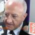"""De Luca e la """"pax"""" con De Magistris: «Vediamo, è l'anno della Misericordia» (video)"""