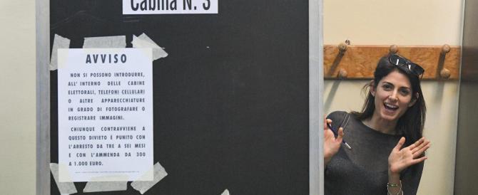 Virginia Raggi al ballottaggio con il 35,37%. La Meloni ottiene il 20,69%