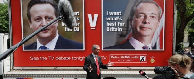 Farage a Cameron: «L'uscita dall'Ue? Non sarà un disastro economico…»