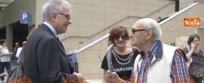 «Giachetti non mi piace, non lo voto»: Zanda al mercato Trionfale (Video)
