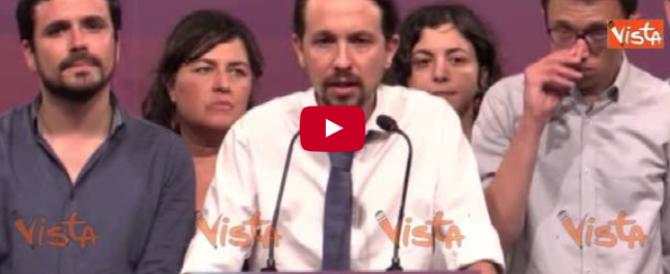 Spagna, Iglesias ammette la sconfitta: «Insoddisfatti del risultato» (video)