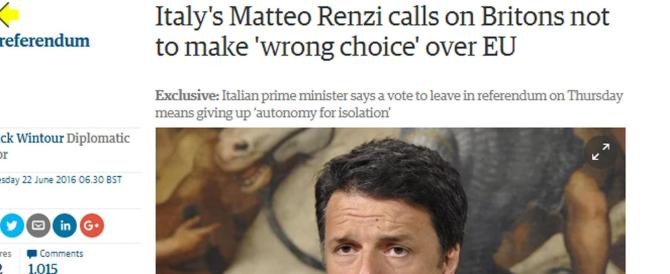 Brexit, Meloni si chiede: ma chi ha pagato l'inserzione di Renzi sul Guardian?