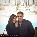 Ecco la coppia di bellissimi, davanti alla Fontana di Trevi. (Foto Instagram)