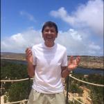 Il cantante è a Lampedusa, storico luogo del cuore del collega e amico Claudio Baglioni.  (Foto Facebook)