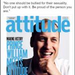 L'anticipazione della copertina: è la prima volta di un reale su una rivista lgbt. (Foto Twitter)