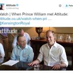 Il giornale ha condiviso alcuni scatti dell'intervista al principe William. (Foto Twitter)