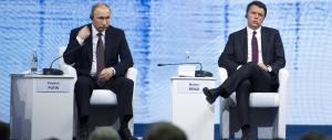 Renzi va in Russia e lo stesso giorno la Ue rinnova le sanzioni contro Mosca