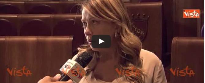 Meloni: «Raggi non ha presentato le linee programmatiche, follia» (video)