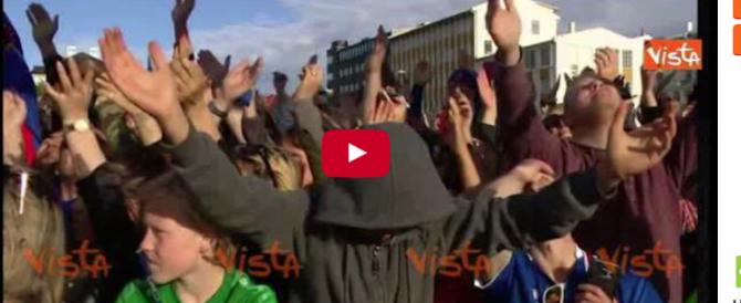 """L'""""haka"""" dei Vichinghi per la nazionale islandese, folla in delirio (Video)"""