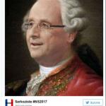 Il presidente con una capigliatura d'altri tempi. (Foto Twitter)
