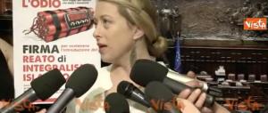 Giorgia Meloni: «Istituire il reato di predicazione fondamentalista» (Video)