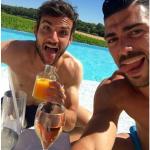 Lo scatto risale all'indomani della vittoria dell'Italia sulla Spagna. (Foto Instagram)
