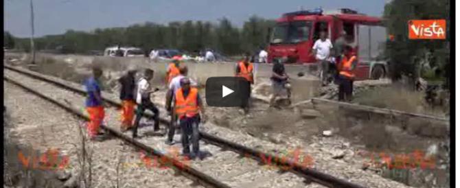 Scontro fra treni, un soccorritore: «Scena allucinante» (video)