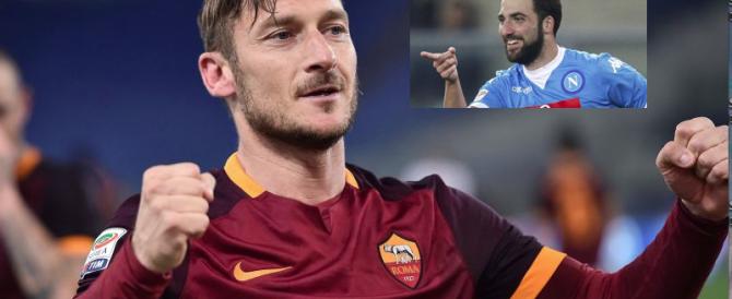 Totti prende a pallate Higuain: «Oggi i calciatori sono nomadi e avidi…»