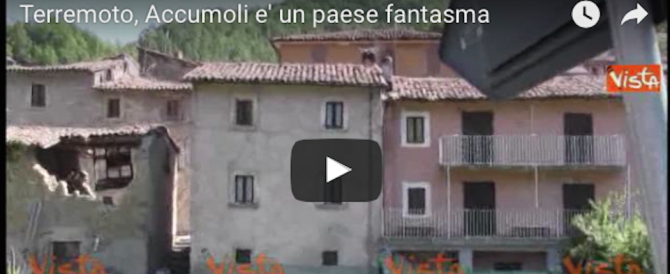 Sisma, Accumoli è un paese fantasma: solo macerie e dolore (video)