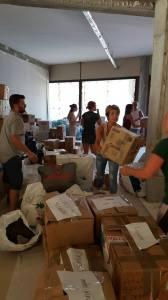 La raccolta di materiali organizzata da Azione nazionale e Area Rieti