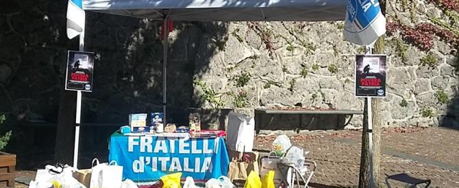 Sisma, Fratelli d'Italia organizza centri di raccolta di generi di prima necessità