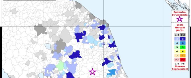 Ecco la mappa della paura elaborata dall'Ingv attraverso i questionari online