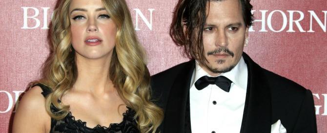 Scene (horror) da un matrimonio: Johnny Depp assale la moglie (video)