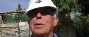 Rinaldo, 82 anni, non molla e veglia le case di Capricchia: «non me ne vado»