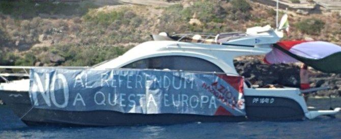 Ventotene, protesta Azione Nazionale. Alemanno: «Vertice inutile e costoso»