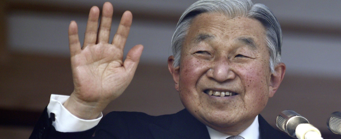 Giappone, l'imperatore Akihito in tv: «Sono vecchio, voglio lasciare…»