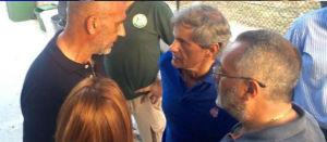 Gianni Alemanno ad Amatrice,il paese distrutto dal terremoto