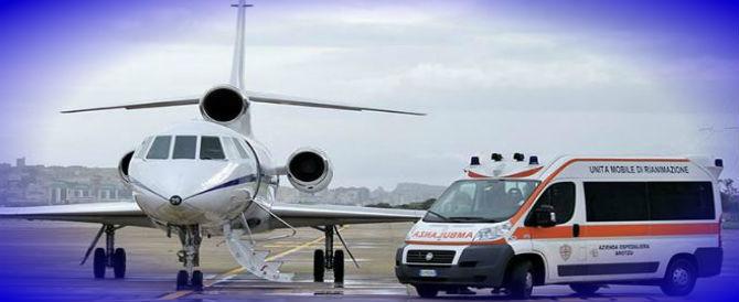 Un Falcon 50 dell'Aeronautica militare in volo per salvare un bimbo di 4 anni