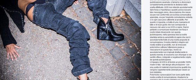 Foto choc: una donna stuprata con le scarpe firmate. L'azienda si dissocia