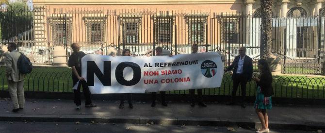 Ambasciata Usa, sit-in di Azione Nazionale: «Non siamo una colonia»