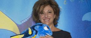 Carla Signoris, in posa durante il photocall del film di animazione della Walt Disney ''Alla Ricerca di Dory''