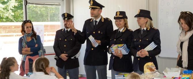Sisma, il diario della Polizia agli studenti di Amatrice (ecco le foto)