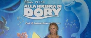 Licia Colo' in posa durante il photocall del film di animazione della Walt Disney ''Alla Ricerca di Dory''