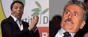 Sale la febbre nel Pd. Renzi al veleno: «D'Alema? Esperto di lotta fratricida»