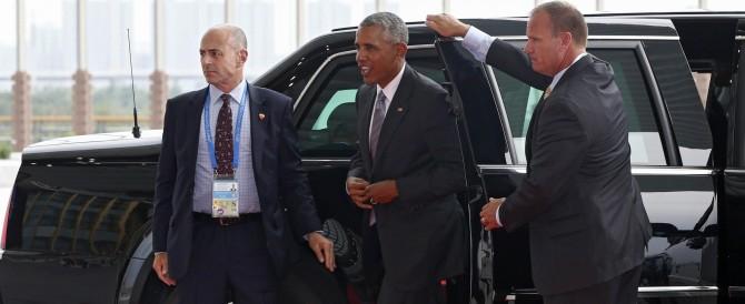 """G20, """"sgarbo"""" dei cinesi a Obama: niente tappeto rosso. E' polemica"""