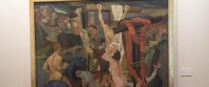 Un momento dell'inaugurazione della mostra ''Guttuso. Inquietudine di un Realismo'', nella Galleria di Alessandro VII al Quirinale