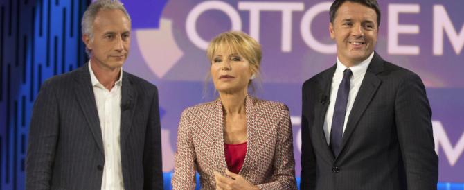 Duello Travaglio-Renzi. «L'Italia è ferma al palo». «E tu tifi Germania…»