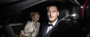 L'arrivo di Totti e Ilary
