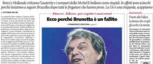 """""""Renato, sei un fallito"""", """"E tu fai pena"""". Furibonda lite tra Brunetta e Feltri"""
