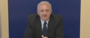 """De Luca, show anti-grillini: """"Vi possano ammazzare tutti"""" (video)"""