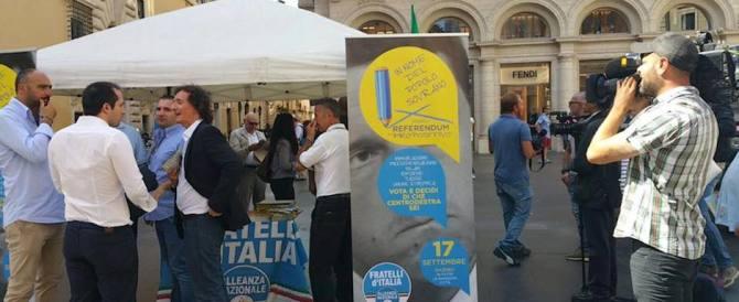 Fratelli d'Italia: ai nostri gazebo in 143mila hanno detto no a Renzi