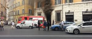 Incendio vicino al Senato:  sul posto quattro squadre di vigili del fuoco
