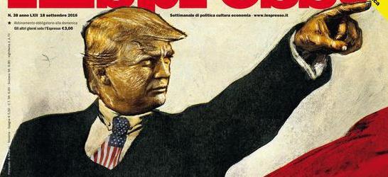 L'Espresso dipinge Trump come Lenin: «Avanti populismo, alla riscossa….»