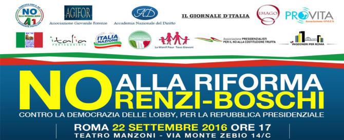 """""""La sovranità è popolare"""": a Roma il convegno del Comitato per il No"""